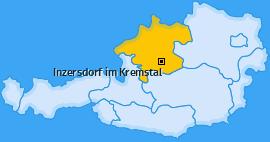Karte von Inzersdorf im Kremstal