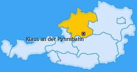 Karte von Klaus an der Pyhrnbahn