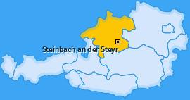 Karte von Steinbach an der Steyr