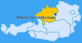 Karte von Mitterkirchen im Machland