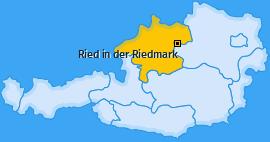 Karte von Ried in der Riedmark