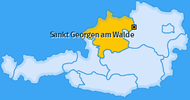 Karte von Sankt Georgen am Walde