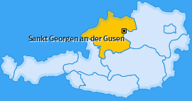 Karte von Sankt Georgen an der Gusen