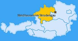Karte von Waldhausen im Strudengau