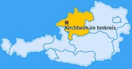 Karte von Kirchheim im Innkreis