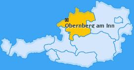 Karte von Obernberg am Inn