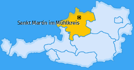 Karte von Sankt Martin im Mühlkreis