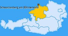 Karte von Schwarzenberg am Böhmerwald