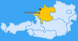 Bezirk Schärding Landkarte