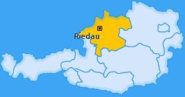 Karte von Riedau