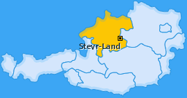 Bezirk Steyr-Land Landkarte