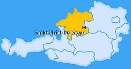 Karte von Sankt Ulrich bei Steyr