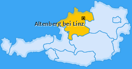 Karte von Altenberg bei Linz