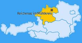 Karte von Reichenau im Mühlkreis