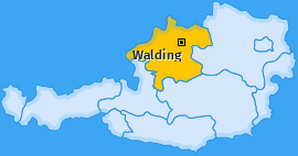 Karte von Walding