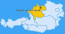 Karte von Zwettl an der Rodl