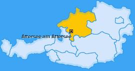 Karte von Attersee am Attersee