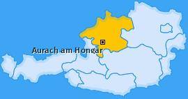 Karte von Aurach am Hongar