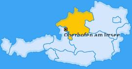 Karte von Oberhofen am Irrsee