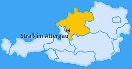 Karte von Straß im Attergau