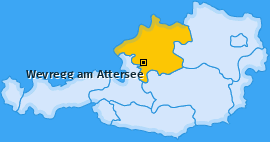 Karte von Weyregg am Attersee