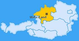 Bezirk Wels-Land Landkarte