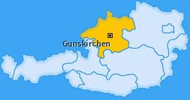 Karte von Gunskirchen