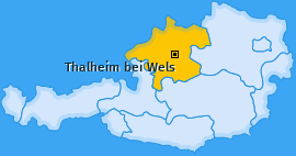 Karte von Thalheim bei Wels