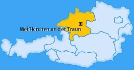 Karte von Weißkirchen an der Traun