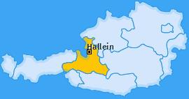 Bezirk Hallein Landkarte
