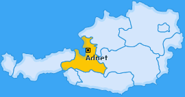 Karte von Adnet