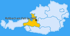 Karte von Rußbach am Paß Gschütt
