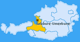 Bezirk Salzburg-Umgebung Landkarte