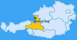 Karte von Anthering