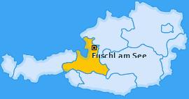 Karte von Fuschl am See
