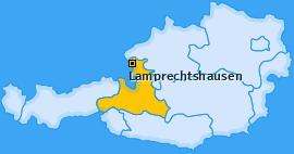 Karte von Lamprechtshausen