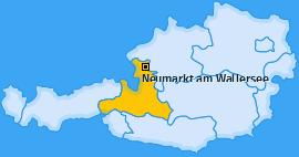 Karte von Neumarkt am Wallersee