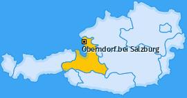Karte von Oberndorf bei Salzburg