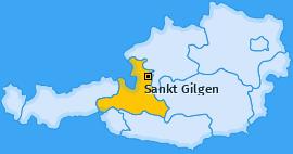 Karte von Sankt Gilgen