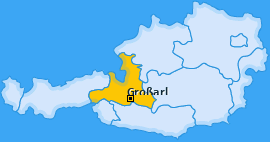 Karte von Großarl