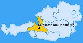 Karte von Mühlbach am Hochkönig