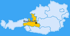 Karte von Radstadt