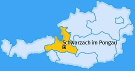 Karte von Schwarzach im Pongau