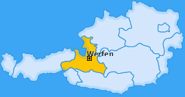 Karte von Werfen