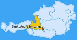 Karte von Sankt Andrä im Lungau