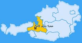 Bezirk Zell am See Landkarte