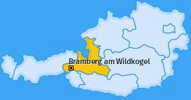 Karte von Bramberg am Wildkogel
