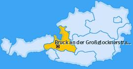 Karte von Bruck an der Großglocknerstraße