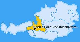 Karte von Fusch an der Großglocknerstraße