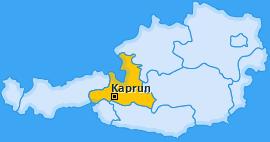 Karte von Kaprun